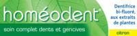 Boiron Homéodent Soin Complet Dents Et Gencives Pâte Dentifrice Citron 2t/75ml à BRIÉ-ET-ANGONNES